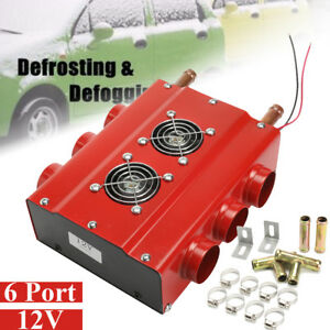 12v 6 Ports Car Underdash Double Side Compact Heater Heat W Speed Switch Au