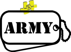 Army Dog Tags Support Our Troops Military Soldiers Man Woman Decal Sticker 406