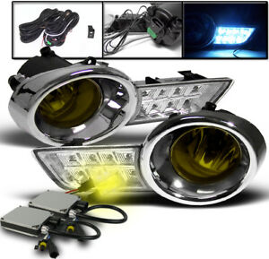 2008 2010 Toyota Highlander Yellow Driving Fog Lights Led Cover 3k Xenon Hid Kit