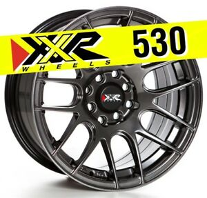 Xxr 530 15x8 4 100 4 114 3 20 Chromium Black Wheels Set Of 4