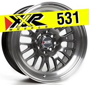 Xxr 531 15x8 4 100 4 114 3 20 Chromium Black Wheels Set Of 4