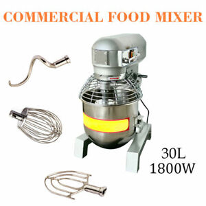 3 Speed 2 4hp Commercial Dough Food Mixer Gear Driven Pizza Bakery 30qt us
