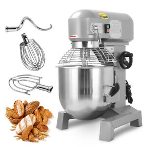 Three Speed 30qt Commercial Dough Food Mixer Gear Driven Pizza Bakery 1800w