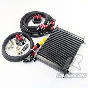Universal 30 Row An10 Engine Transmission Oil Cooler Filter Relocation Kit