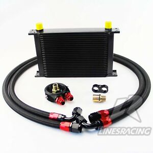 An10 Universal 25 Row Engine Transmission Oil Cooler Filter Adapter Kit