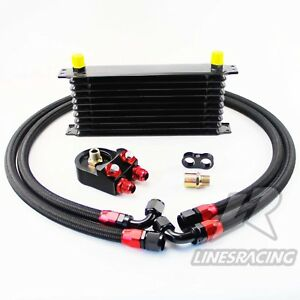 An10 Universal 10 Row Transmission Oil Cooler Filter Adapter Kit