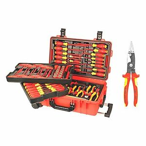 Wiha 80 Piece Insulated Rolling Tool Case Free Knipex Pliers Made In Germany