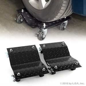 2 Piece 1500lb Per Dolly Tire Wheel Dollies Dolly Heavy Duty Vehicle Car Auto