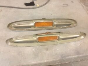 1960 1961 Chevy C10 Apache Truck Turn Signal park Light Bezels With Housings