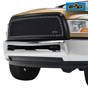 2010 2012 Dodge Ram 2500 3500 Grille Rivet Black Mesh Grille W Glossy Abs Shell