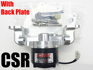 Csr 904nc Clear Big Block Ford Electric Water Pump With Back Plate