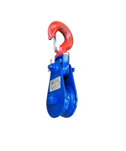 2 4 8 Ton Snatch Block With Hook For Wire Rope Cable Size 3 8 1 2 3 4