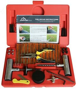 56 Pc Heavy Duty Tire Repair Kit For Car Truck Jeep Atv Motorcycle Tractor