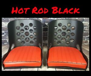 Hot Rod Black Hot Rod Seats Rat Rod Seats Bomber Seats Pair
