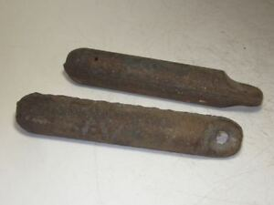 Lot Of 2 4 Lb Vintage Window Weights Pair