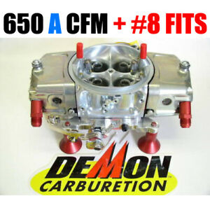 Race Demon 650 Cfm Alcohol Oval Track Barry Grant 2282015ot W 8 Fittings