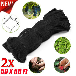 2x Bird Netting 50 x50 Net Poultry Avaiary Game Pens Plant Protective Netting Y