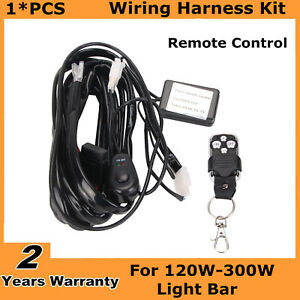 Remote Control Wiring Harness Strobe Switch Relay For Led Light Bar 120w 300w