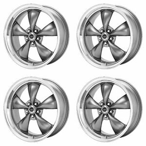 4x American Racing 17x7 5 Ar105 Torq Thrust M Wheels Anthracite Mach 5x110 45