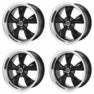 4x American Racing 18x8 Ar105 Torq Thrust M Wheels G Black Machined 5x5 127 0