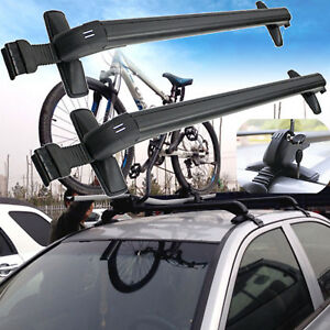 Universal Cars Black Anti Theft Car Roof Bars Without Rails Lockable Rack Box Us