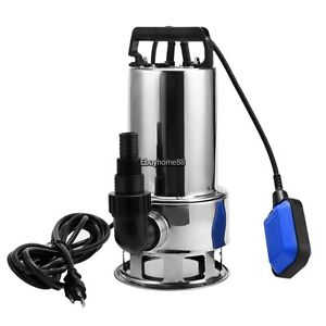 1 5hp 115v 1100w Garden Pool Stainless Steel Submersible Clean dirty Water Pump