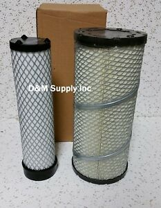 Ford New Holland Skid Steer Loader Combine Inner Outer Air Filter Set
