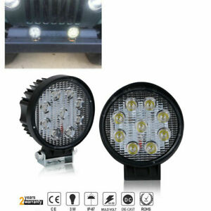 2 X 6000k Hid 4x4 Offroad Grille Guard Bull Bar Roof On Fog Driving Lights
