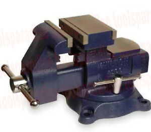Wilton Large 5 1 2 Benchtop Spinning Swivel Base Vise Anvil 9 3 4 Reversed Jaw