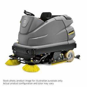Karcher B 250 R Bp Ride On Floor Scrubber W R120 Head Side Brush Refurbished
