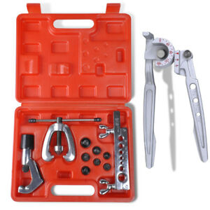 Universal Steel Double Flaring Tool Kit Set With Tube Bender Pipe Repair