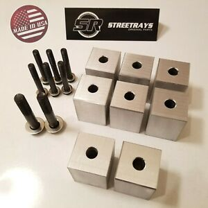Sr Cnc Machined Front Seat 1 Risers Lift Spacers Kit For Jeep Wrangler 97 06