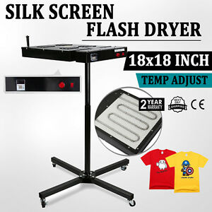 New 18 X 18 Silkscreen Flash Dryer Curing Garments T shirt Screen Printing