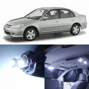 8 X Xenon White Interior Led Lights Package For 2001 2005 Honda Civic Tool