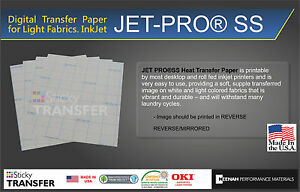 Jet pro Sof Stretch Inkjet Printer Heat Press Transfer Paper 11 x17 50 Sheets