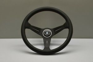 New Genuine Nardi Deep Corn Steering Wheel Leather With Red Stitching 350mm