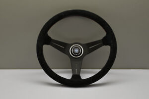 New Genuine Nardi Deep Corn Steering Wheel Suede With Red Stitching 350mm