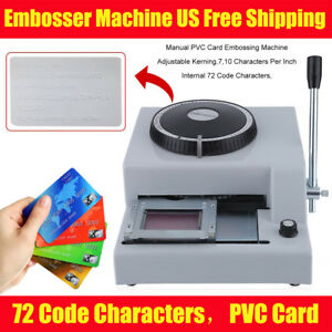 Letter Manual Embosser Stamping Machine 72 Character Pvc Credit Card Embossing Y