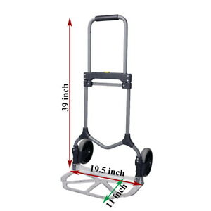 Aluminum Folding Hand Truck 200 Lb Capacity For Trade Shows And Small Business