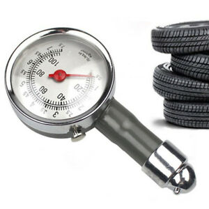 0 100 Psi Car Truck Auto Car Tyre Tire Air Pressure Gauge Dial Meter Tester New