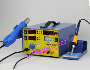 Soldering Solder Iron Rework Station Hot Air Gun Dc Power Supply 220v