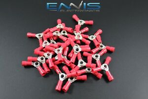 200 Pcs 18 22 Gauge 3 Way Ring Butt Crimp Connector Awg Junction Wire Rvbc3