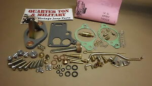 Jeep Willys Mb Gpw Cj2a Cj3a Carter Wo Carburetor Master Kit G503