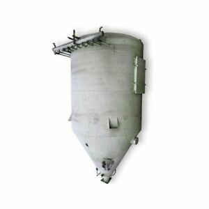 Used 5 600 Cfm Pulse Jet Round Aluminum Dust Collector 800 Sq Ft