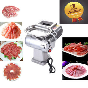 110v Household commecial Meat Slicer Food Cutter Stainless Steel Cutting Machine