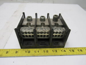Gould Shawmut 66633 Power Distribution Block 3 Pole 600v