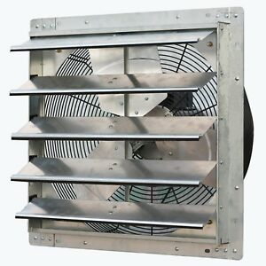 20 Wall Mount Quiet Exhaust Fan Variable Speed Automatic Shutters Garage Vent