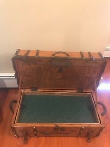 Antique Trunk Vintage 1800 S Stagecoach