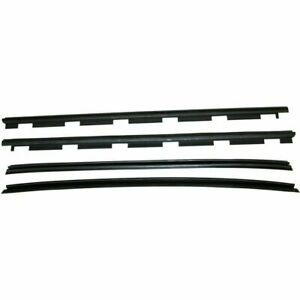 New Set Of 4 Inner Outer Window Sweep Weatherstrip Seals Kit For Chevy C K Truck