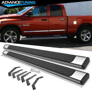 Fits 02 08 Dodge Ram Crew Cab 82inch Ram Oe Style Nerf Bars Running Boards